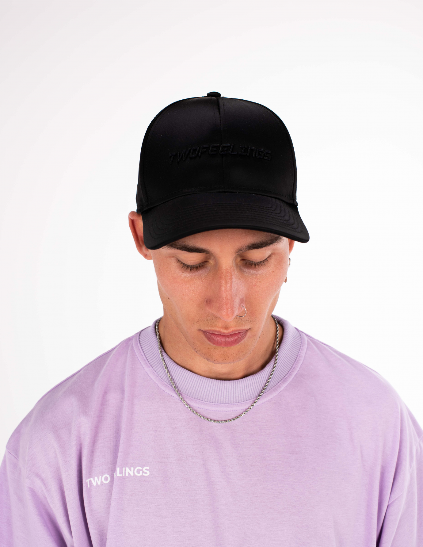 Satin Black Cap